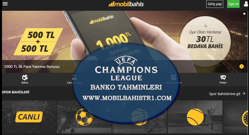 Şampiyonlar Ligi Banko Bahis Tahminleri 21 - 22 Kasım 2017
